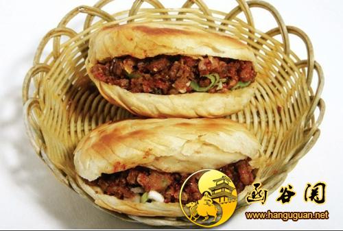 灵宝烧饼夹肉-函谷关旅游网hanguguan